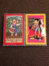 """Mary Engelbreit Set Of 2 Playing Cards """"Queen Has Spoken"""" You Pray For Rain New"""