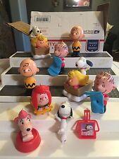 Charlie Brown The Peanuts Gang Christmas Ornaments Lot 11 pcs Snoopy Linus