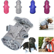 Dog Snowsuit Doggie Jacket Hoodie Coat Pet Clothes Warm Clothing for Small Dogs