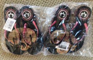 GWG Girls With Guns Flip Flops Pink Ladies Size 6 GWG66038( 2 Pairs as Pictured)