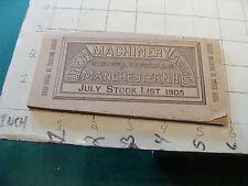 vintage  orig. CATALOG--Drew Machinery 1905 - 110pgs - Steam Power, Machine Tool