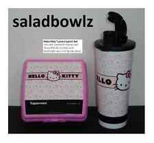 TUPPERWARE New HELLO KITTY LUNCH LOVERS SET Sandwich Keeper w/Tumbler fREEsHIP