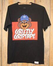 Diamond Supply Company Grizzly Grip Tape Shirt Adult Medium Bear Face Logo +