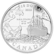 2012 Canada $10 Fine Silver Coin R.M.S. Titanic - Tax Exempt