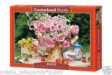 Puzzle 1000 SUMMER PLEASURE flowers jigsaw BUKIET KWIATOW  CASTORLAND SNC *JBook