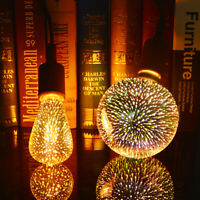 Vintage 3D Fireworks Night Lamp E27 LED Light Bulbs Christmas Holiday Home Decor