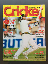 Australian Cricket Magazine Jan/Feb 1992 Mark Waugh Cover Excellent Condition