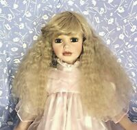 Monique ELISE Blonde Full Adj. Cap Doll Wig Size 12-13 Long, Wavy