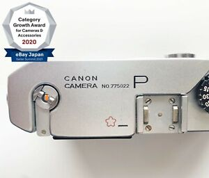 RARE!!【NEAR MINT】Canon P Cherry Engraving JSDF Leica Screw Mount From Japan 1617
