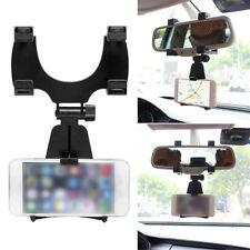 Universal Car Rear-view Mirror Mount Stand Holder Cradle For Cell Phone GPS YEE