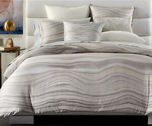 Hotel Collection Agate Cotton King Duvet Cover, 2 King Shams, Fitted Sheet/Cases