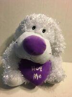 """Excite White And Purple Hug Me Dog 15"""" Plush Stuffed Animal"""