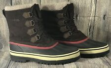 Totes Barren Men's Waterproof Winter Rubber Leather Duck Boots Sherpa Trim Sz 13