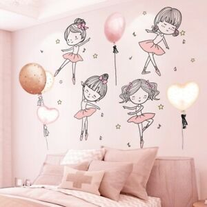 3D Wall Stickers Girl Balloon Home Disney Kids Room Decor Removable DIY Decals