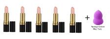 Revlon Super Lustrous Lipstick Pearl #210 Ipanema Beach (5 Pack) + Makeup Sponge