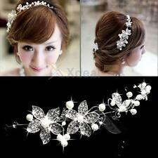 Fashion Bridal Wedding Women Party Rhinestone Crystal Headband Hair Clip Jewelry