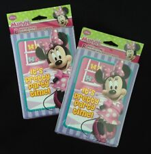 Disney Minnie Mouse Birthday It's Party Time!16 Invitations Envelopes Thank-yous