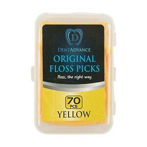 DentAdvance Dental Floss Picks - Yellow - Unflavored - 70 ct.