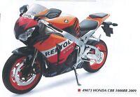 NEW RAY 49073 HONDA CBR 1000RR diecast model bike orange / blue/white 2009 1:6th