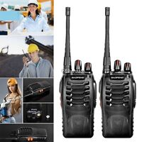 2 x Baofeng BF-888S UHF 400-470MHz Walkie Talkie Two Way Radio+Free UTAR