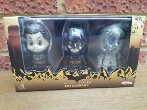 Hot Toys Cosbaby Batman Begins Set Bruce Wayne Scarecrow MIB sealed