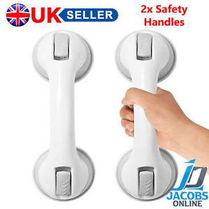 2X SAFETY HANDLE RAIL GRAB SHOWER BATHROOM AID SUPPORT HAND GRIP SUCTION TOILET