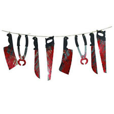 8PCS Spooky Halloween Party Haunted House Hanging Garland Pennant Banner ON
