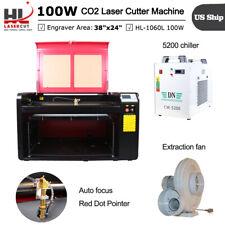 Hl1060l 100w Laser Cutter Marking Machine Ruida 6445 Whit Auto Focus Us Ship