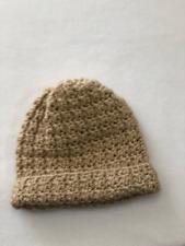 Beige Baby Hat Handmade Crochet Fits 6-12 months boy girl shower gift beanie