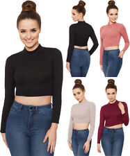 Long Sleeve Polyester Crop Regular Tops & Blouses for Women