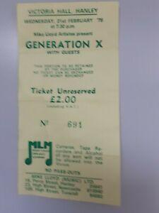 Generation x music memorabilia