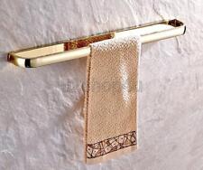 Luxury Gold Color Brass Wall Mounted Bathroom Single Towel Rail Holder Uba843