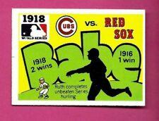 1971 Fleer LAUGHLIN WORLD SERIES 1918 Cubs v. Red Sox  #15 BLACK BACK RUTH EXMT