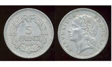 FRANCIA 5 FRANCHI 1949 Moneta in alluminio-Laureate Testa