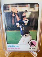 1973 Topps Hank Aaron #100 - Atlanta Braves - EX-MT HOF Home Run Leader
