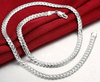 Mothers Day 925 Sterling Silver Mens Womens Cuban Curb Link Chain Necklace D543k