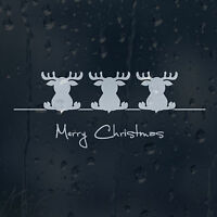 Merry Christmas Dear Car Decal Vinyl Sticker For Bumper Window Panel Wall