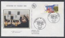 FRANCE FDC - 2744 1 JOURNEE DU TIMBRE - PARIS 7 Mars 1992 - LUXE sur soie
