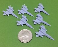 Anime Space Fighters Type-A (Set of 6) Wargame Miniatures (No Bases)