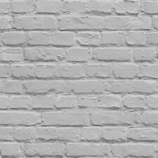 Muriva Painted Grey Shimmer Brick Wallpaper L22619 - Feature Wall Photographic