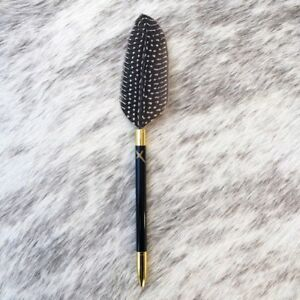 Elegant JOT IT DOWN: PHOENIX FEATHER PEN SPECKLED Free Gift Box & Free Shipping!