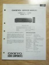 Original Onkyo Service Manual for the DX-710 CD Player~Repair