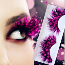 Crazy False Eyelashes Exaggeration Feather Cosmetic Party Colorful Eye Lashes