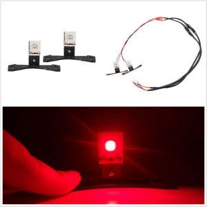 2 Pcs Universal Chip LED Devil Demon Eye Red Car Headlight Retrofit Kit