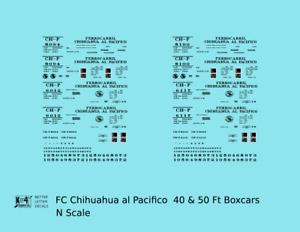 K4 N Decals FC Chihuahua Al Pacifico 40 Ft Boxcar Black