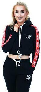 Sik Silk Siksilk Womens Girls Hooded Tracksuit Hoodie Sweatshirt Cropped Top NEW
