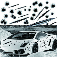 New Funny 3D Bullet Hole Car Stickers Body Side Decal Graphics Sticker Decals