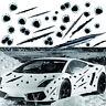 3D Set of BULLET HOLE Car Stickers Rapid Fire Decal Gun Holes