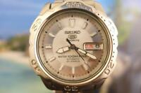 Classic 37mm SS Seiko 5 Sports 7S38 0230 Day/ Date Automatic