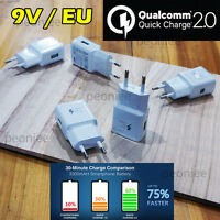 EU Plug 9V Qualcomm Certificated Quick Charge2.0 USB Wall Fast Charger Adapter j